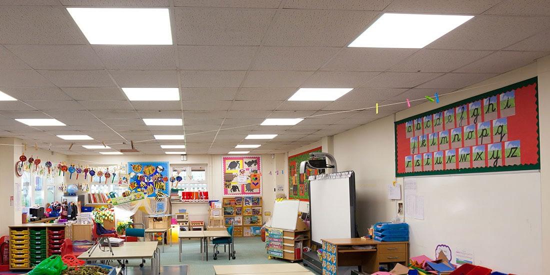 Salix School LED lighting