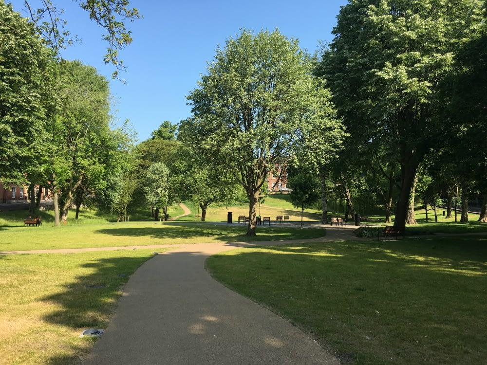 Winckley Square Park in Preston